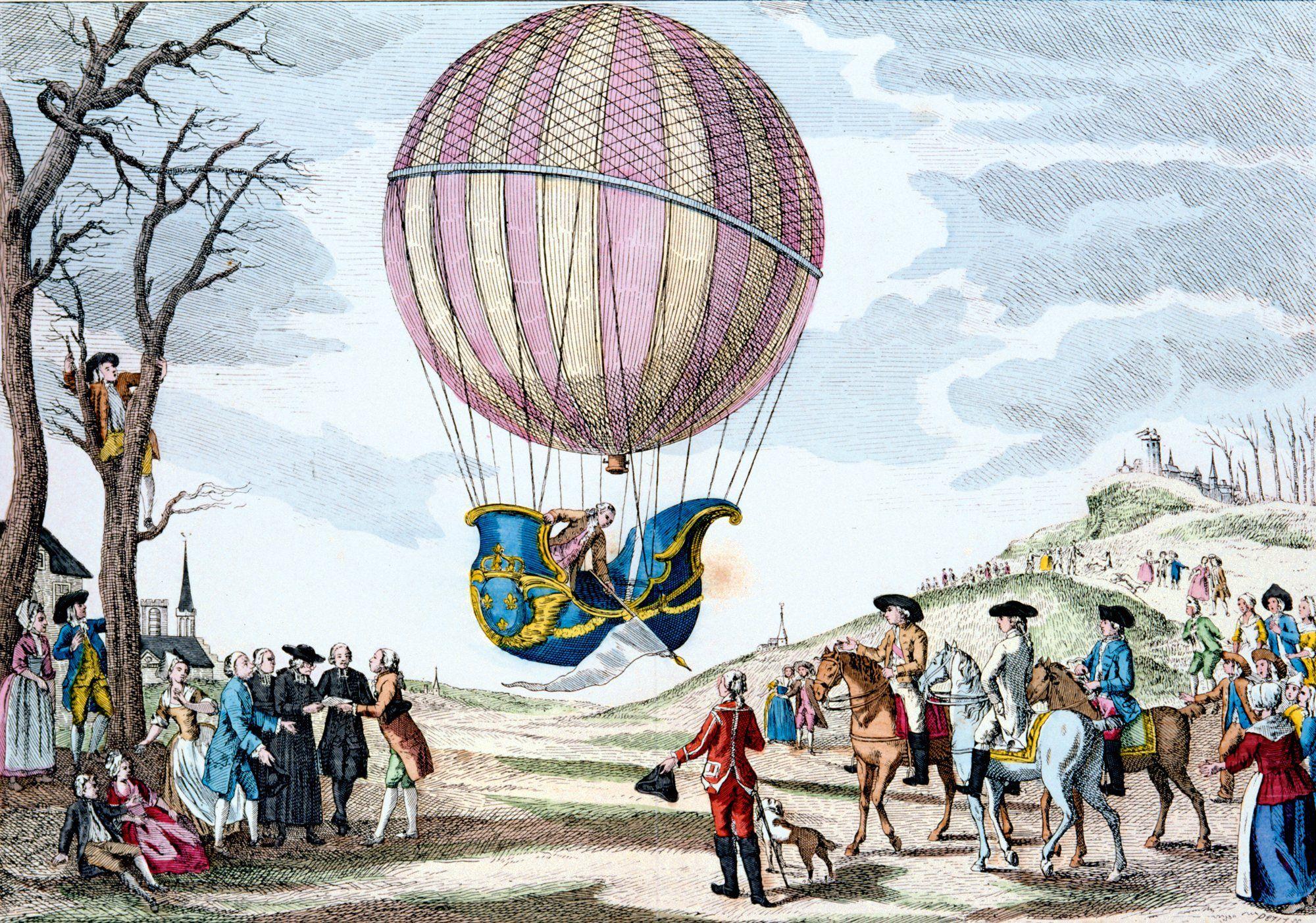 Primer vuelo sobre Versalles